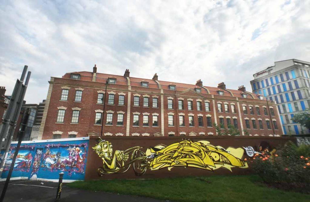 Graffiti Art In A Bristol Georgian Square
