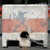 Banksy Art - Flower Thrower - Peaceful Protestor - Bristol 2019 - Uncovered Banksy
