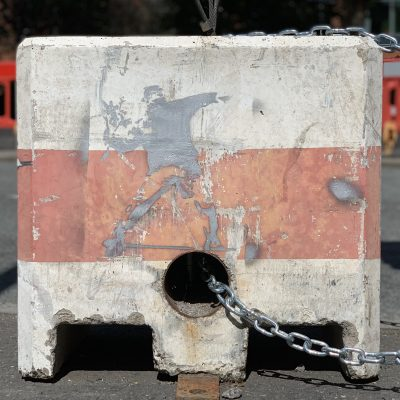 Banksy Art - Flower Thrower - Peaceful Protestor - Bristol 2019 - Uncovered Banksy