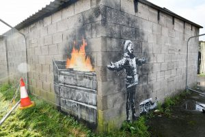 Banksy Art Port Talbot Wales - Season's Greetings