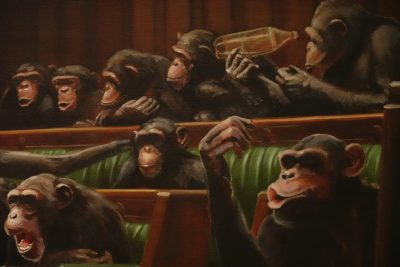 Banksy Art Devolved Parliament