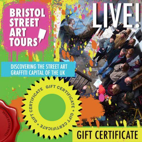 Bristol Street Art Tour Gift Certificate
