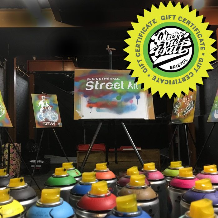 Introducing Stencil Art Spray Session Gift Certificate