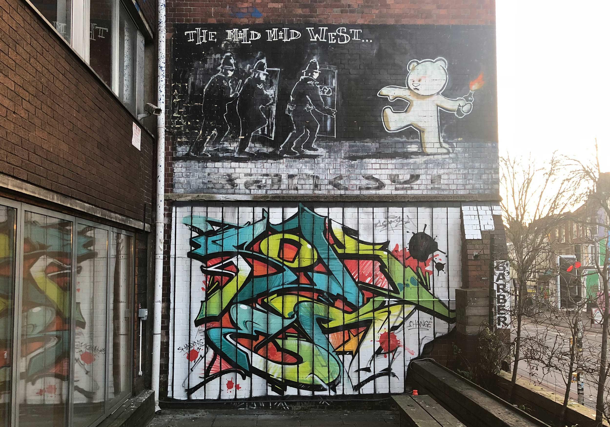 Shredded Graffiti Art